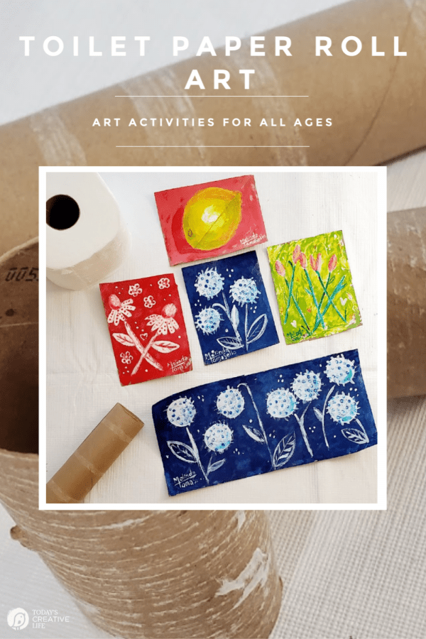 Photo collage of toilet paper roll art |Toilet Paper Rolls for Crafts