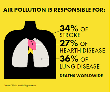 Air Pollution is responsible for: