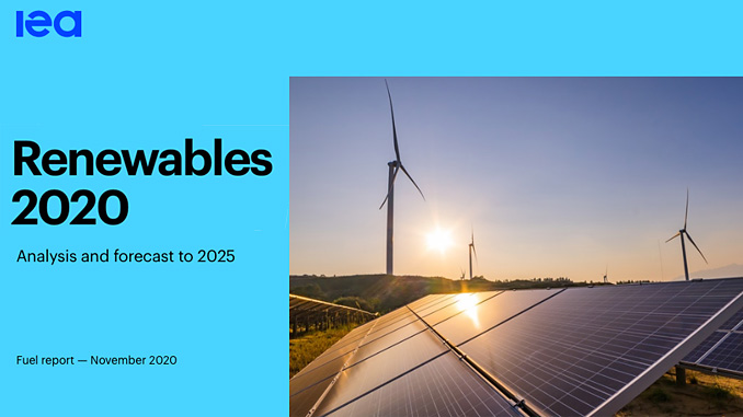 IEA Renewables 2020 Report