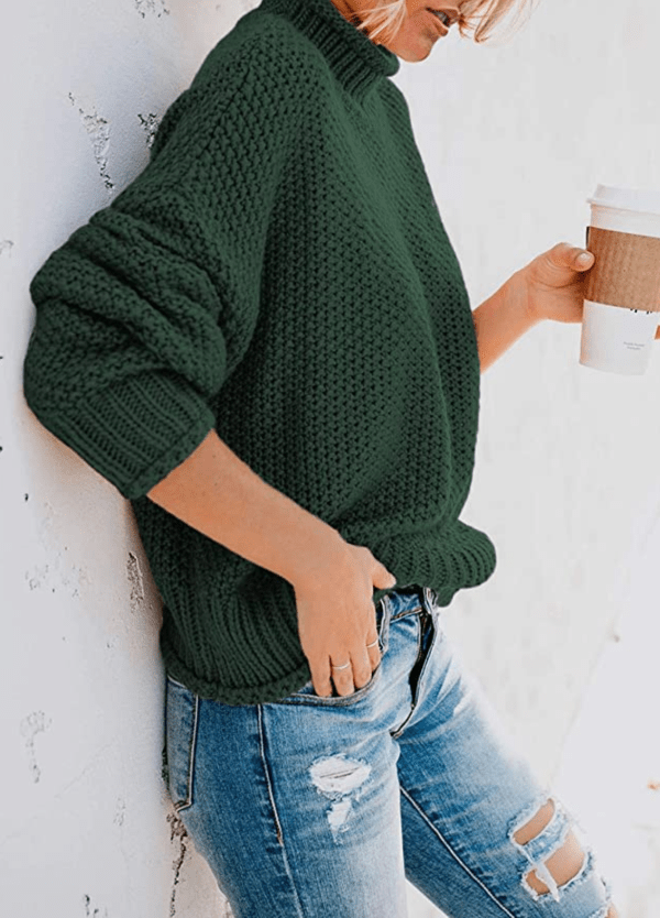 Green Slouchy Sweater