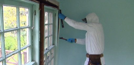 Removing Lead Paint and Plaster from the Kuppersmith