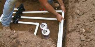 Gluing PVC pipes together for irrigation system