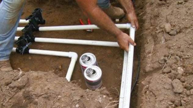 Installing an irrigation system
