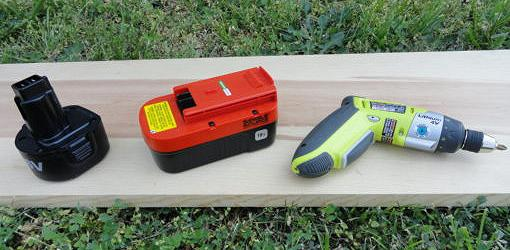 Cordless rechargeable drill with battery and charger