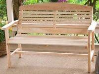 Cypress garden bench