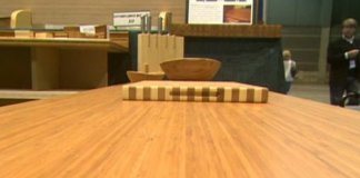Bamboo countertop, cutting board, and bowl