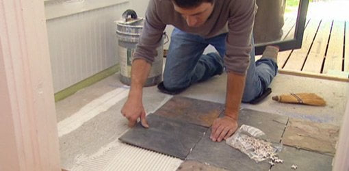 how to lay tile over an existing vinyl floor
