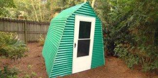 Finished backyard greenhouse