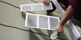 Three shapes and sizes of soffit vents.