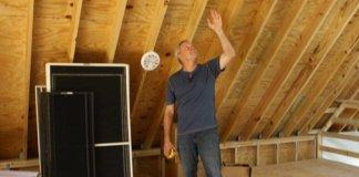 Danny Lipford in attic