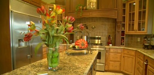 Kitchen in house on parade of homes