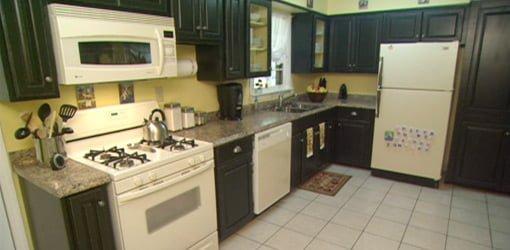 Kitchen after DIY budget remodeling project.