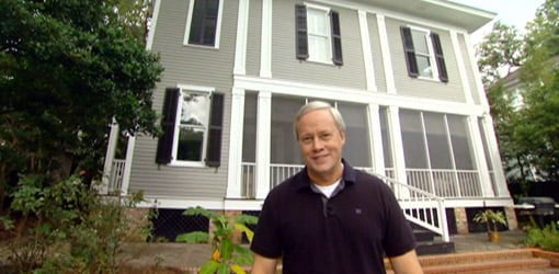 Danny Lipford in front of competed two-story historic home addition.