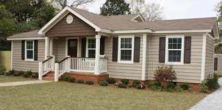 House with vinyl siding and trim.