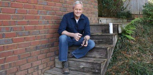 Danny Lipford on slippery wood steps.