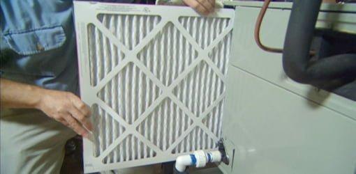 Changing air filter.