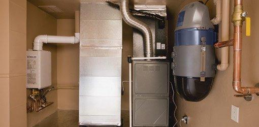 Home heating furnace.