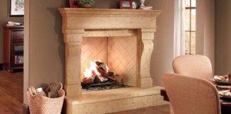 Eldorado Stone Fireplace Surround.