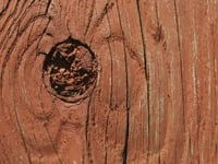 Cracked wood on deck.