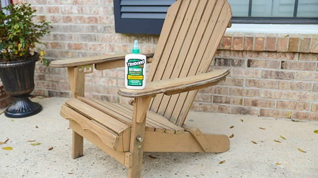 Titebond III Ultimate Wood Glue is ideal for repairing outdoor furniture.