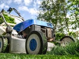 lawnmower closeup