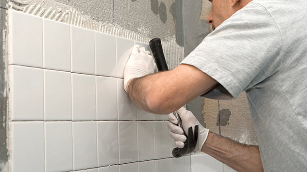 replacing grout tile