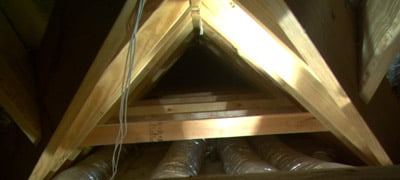 Attic space above room.
