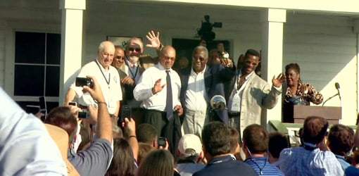 Dedication ceremony for the Henry Aaron Museum.