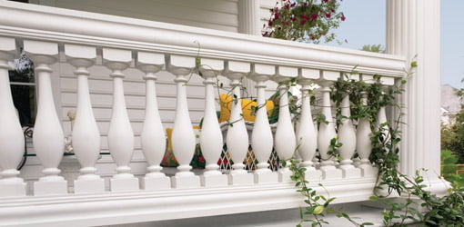 Urethane spindles on porch railing