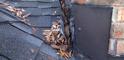 Flashing pulled away from chimney