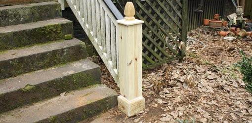 Five Common Exterior Home Repairs Today S Homeowner | Exterior Wood Newel Posts | Porch | Banister | Stair Railing | Oak | Cap