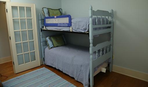 Bunk beds in bedroom.