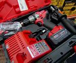 Milwaukee M18 Fuel 18-Volt Hammer Drill/Driver in case.