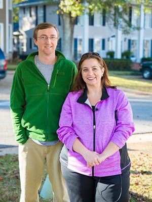 Homeowners Chris and Barclay Harle