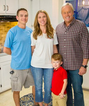 Yarby and Nicole Rhoads, son Zack, with Danny Lipford