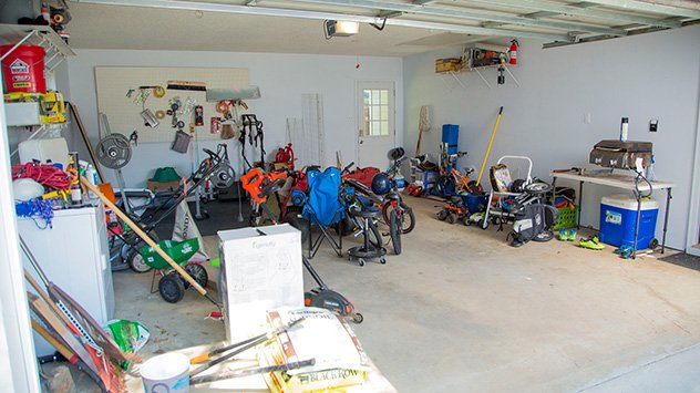 The Porters' garage before the makeover