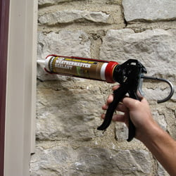 Caulking door with Titebond® WeatherMaster™ Sealant