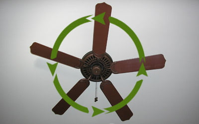 counter-clockwise during hot weather