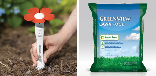 Black & Decker PlantSmart Digital Plant Care Sensor and Greenview with GreenSmart Enhanced Efficiency fertilizer