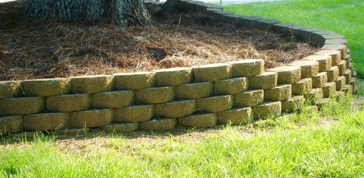 stackable block retaining wall