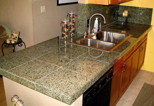 install a granite tile countertop