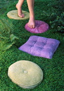 Stepping stones that look like throw pillows