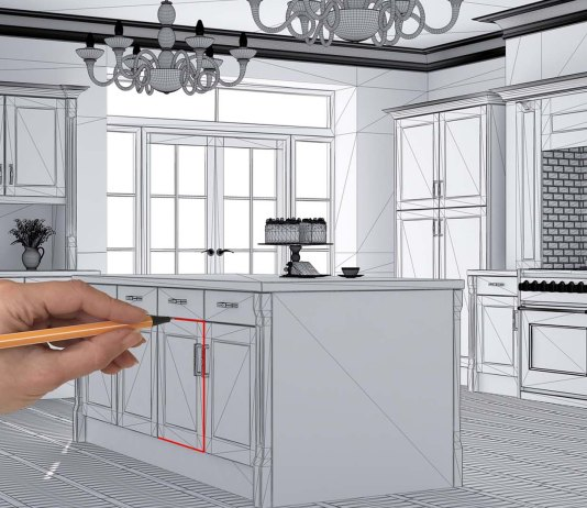 Architect draws kitchen upgrade plans