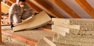 Installing attic insulation