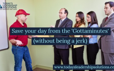Save your day from the Gottaminutes  without being a jerk