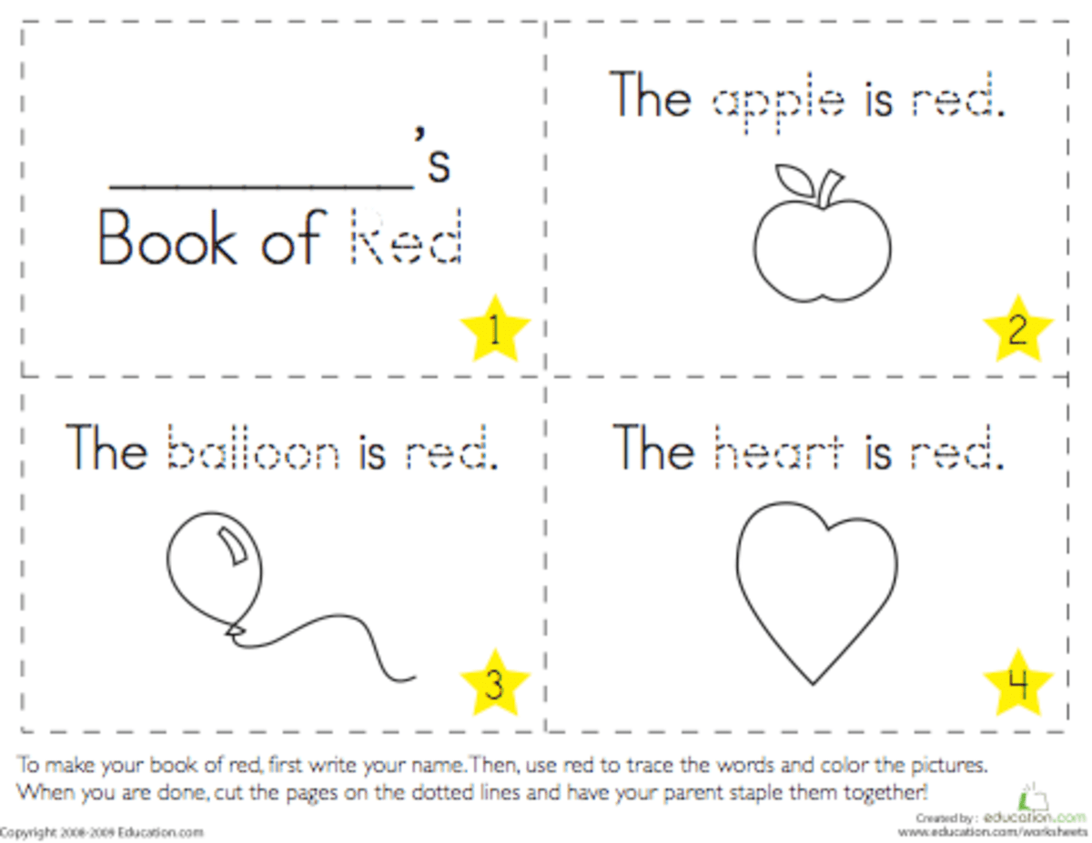 Printable Color Books For Preschoolers