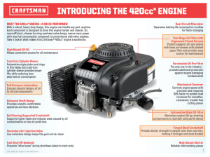 Craftsman 420 cc Engine