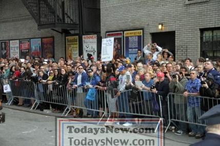 CROWD at ''Live with David Letterman Show'' Final show 5=20-2015 John Barrett/Globe Photos 2015