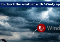 How to check the weather with Windy app?