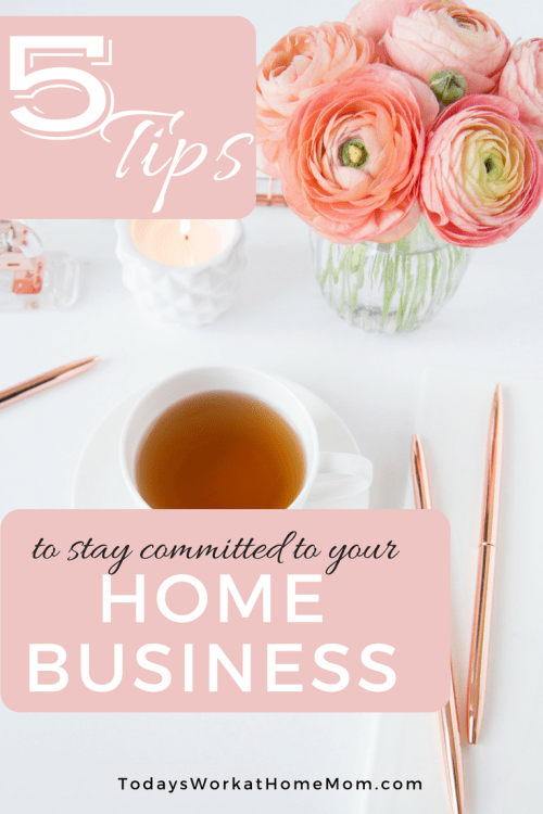 Running a home business requires a certain amount of drive and enthusiasm to stay committed. Here's 5 tips to help you stay motivated and not give up.
